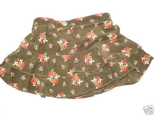 NWT Gymboree Rocky Mountain Green Corduroy Skirt 18-24