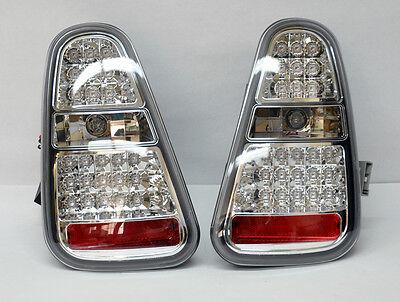 Mini Cooper 2005-2006 LED Crystal Tail Lights - Clear Pair RH LH