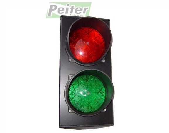 Doble Lente Led semáforo, nuestrogobiernorojo-verde Luz, fuente de alimentación de 230 V