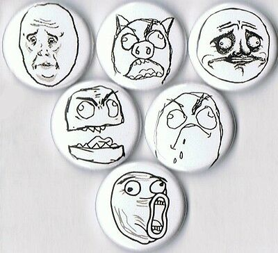 rage comics pins buttons badges meme me gusta lol derrp okay canadian faces lot