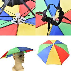 72c9e8df854 Image is loading Foldable-Novelty-Umbrella-Sun-Hat-Golf-Fishing-Camping-