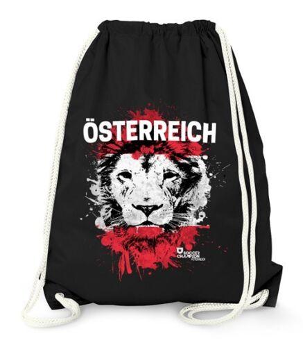 Turnbeutel EM WM Österreich Löwe Flagge Austria Lion Flag Fußball MoonWorks®