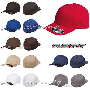 c1c99e2d7f7de Image is loading Original-Flexfit-Fitted-Baseball-Hat-Wooly-Combed-Twill-