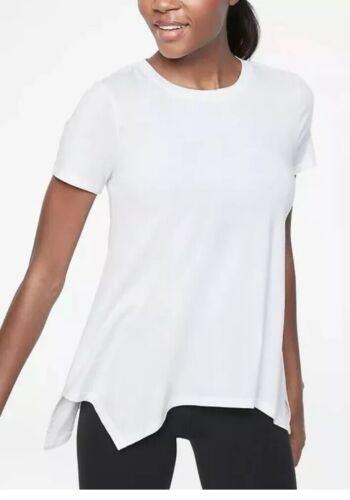 Athleta Essence Handkerchief Hem Tee White NWOT 2X