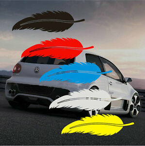 Adhesive-Vinyl-Motor-Scratch-Cover-Feather-Car-Sticker-Bumper-Auto-Decal-Emblem