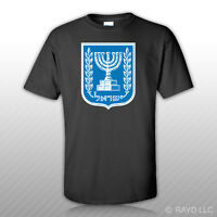 Israeli Coat Of Arms T-shirt Tee Shirt Free Sticker Israel Flag Isr Il