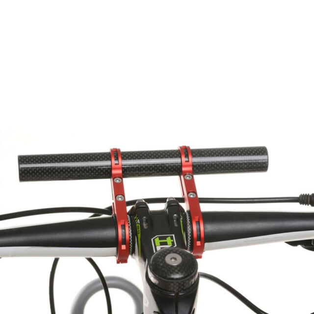 Bicycle Light Holder Carbon Fiber Bike Handlebar Extender Mount Bracket D7