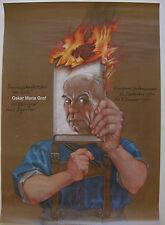 Michael Mathias Prechtl Oskar Maria Graf Exil Offset Plakat 1994