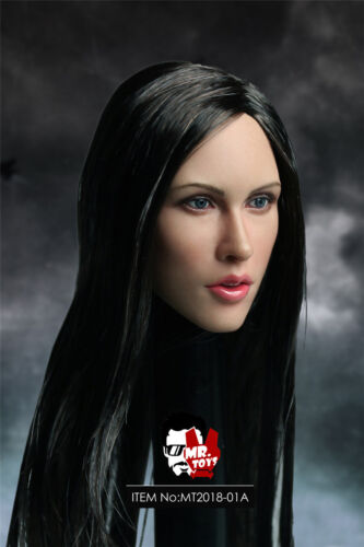 "1//6 MR.TOYS MT2018-01-A Megan Fox Black Hair Head Sculpt F 12/"" Female Body"