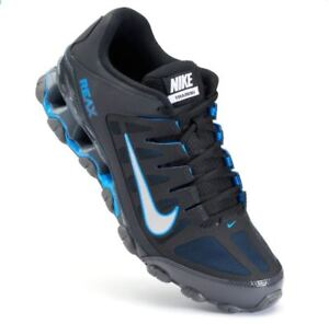NIB Men's Nike Reax 8 TR Mesh Running Cross Shoes Sneakers 621716 BkBlue Torch