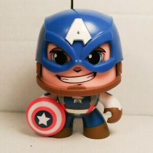 Mighty Muggs ~ CAPTAIN AMERICA FIGURE ~ Hasbro Marvel
