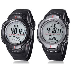 Wasserdicht-Outdoor-Sport-Herren-Digital-Quarz-Alarm-Armbanduhr-Hoc