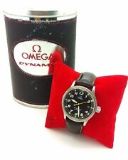 Men's OMEGA DYNAMIC Automatic Black Dial Stainless Steel Brown Leather Watch