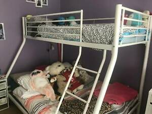 Bunk Bed Double On Bottom Single On Top Ebay
