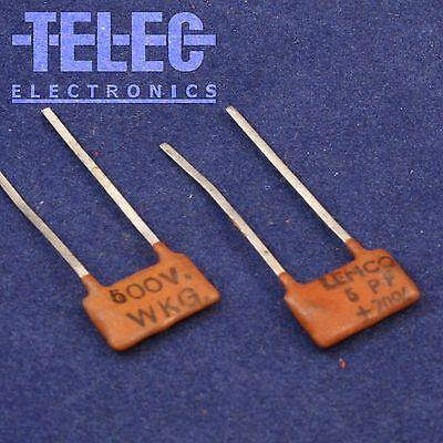 500V 5/% Silvered Mica Capacitor CDE 18P 18pF 2pcs
