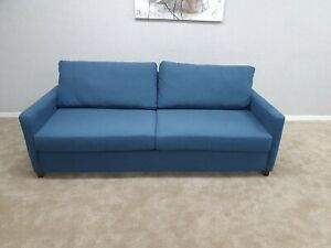 Willow-amp-Hall-Light-Med-Blue-Fabric-Static-Large-4-Seater-Sofa-Bed