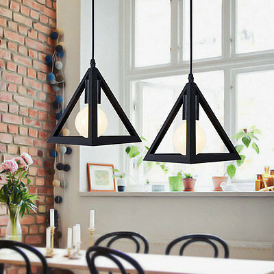 Modern Ceiling Pendant Light Lamp Shade Chandelier Triangle Lampshade Home Decor