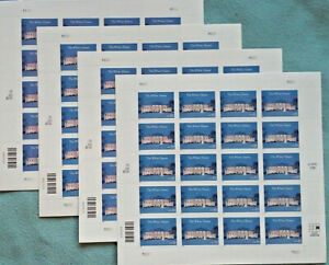 Four Sheets x 20 Of THE WHITE HOUSE In Winter 33¢ US PS Postage Stamps Sc # 3445