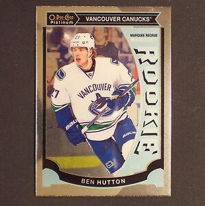 BEN-HUTTON-RC-2015-16-OPC-Platinum-M23-Vancouver-Canucks-Rookie