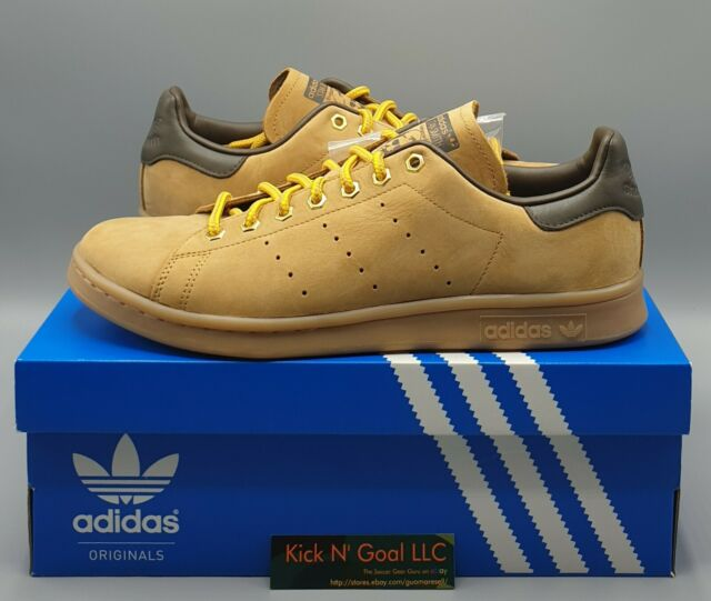 adidas Stan Smith WP Leather Trainers (us Men Sz 11) Suede Wheat Brown B37875