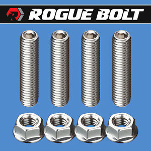 "Stainless Steel Carb Stud Kit  fits  Holley and Edelbrock Carbs 2 1//2 /""  Long"