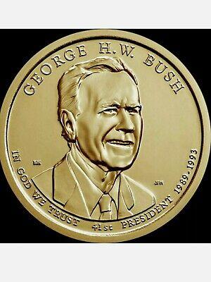 2020-D  George H.W BU Bush Presidential dollar coin