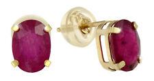 Exquisite Ohrstecker Gold Rubine
