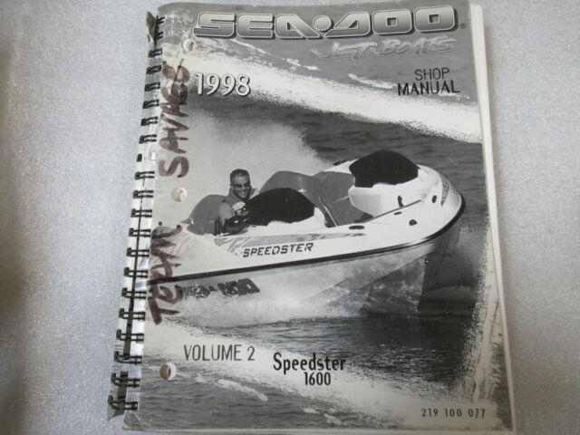 Seadoo 1998 Speedster 1600 Shop Manual Volume 2 P  N