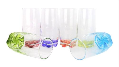 6x potable Verres//orangeade//eau verres//longdrink verres-Coral-adr25