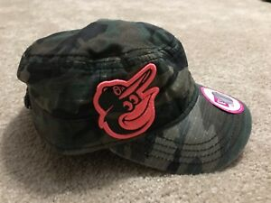 d8daabb0fcf Image is loading Baltimore-Orioles-Pink-Camo-Military-Cadet-Chic-Hat-