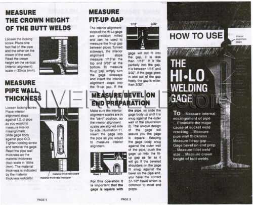 "HI-LO Welding Gauge Gage Test Ulnar Welder Inspection 32mm /& 371//2/"""