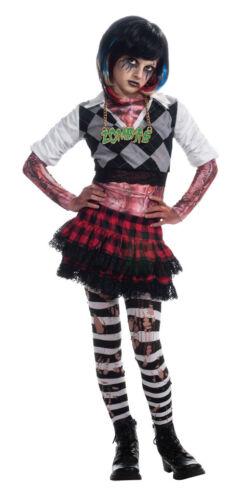 Girls Zombie Punk Costume 80s High School Girl Skirt Rocker Fancy Dress Childs