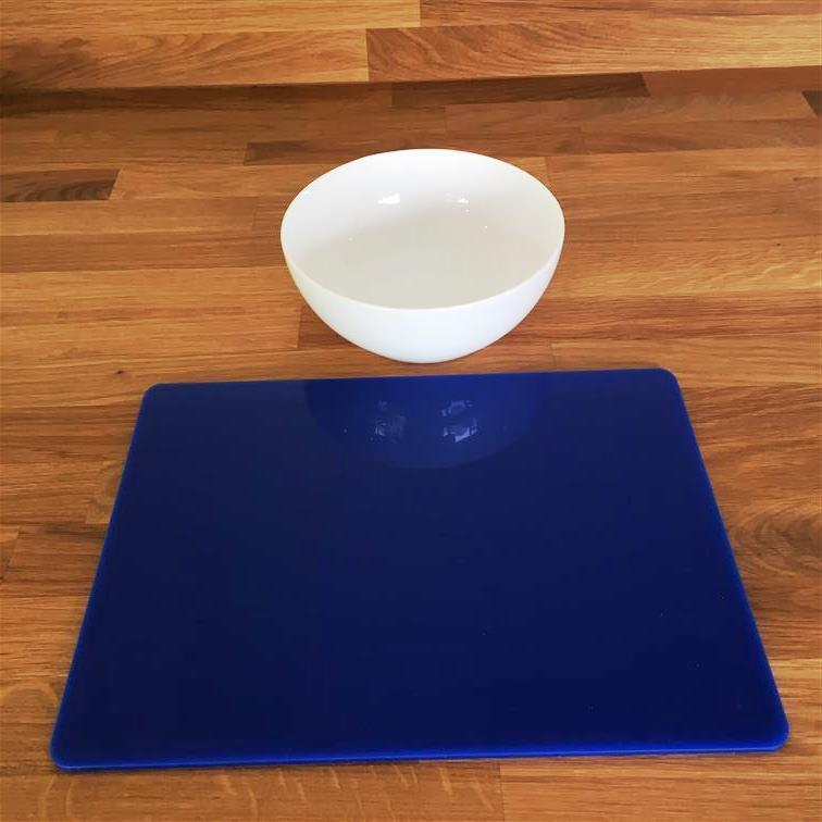 Rectangle Shaped Blau Gloss Finish Acrylic Placemats. Größe 11.5x8.5  or 16x12