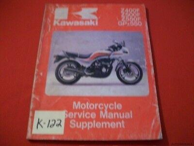 Kawasaki Z400f Z500f Z550f Gpz550 Motorcycle Supplement