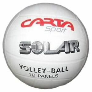 Carta-SOLAR-Volleyball-Size-5-Ball-White-Nylon-Wound-18-Panel-Clubs-Schools-Play