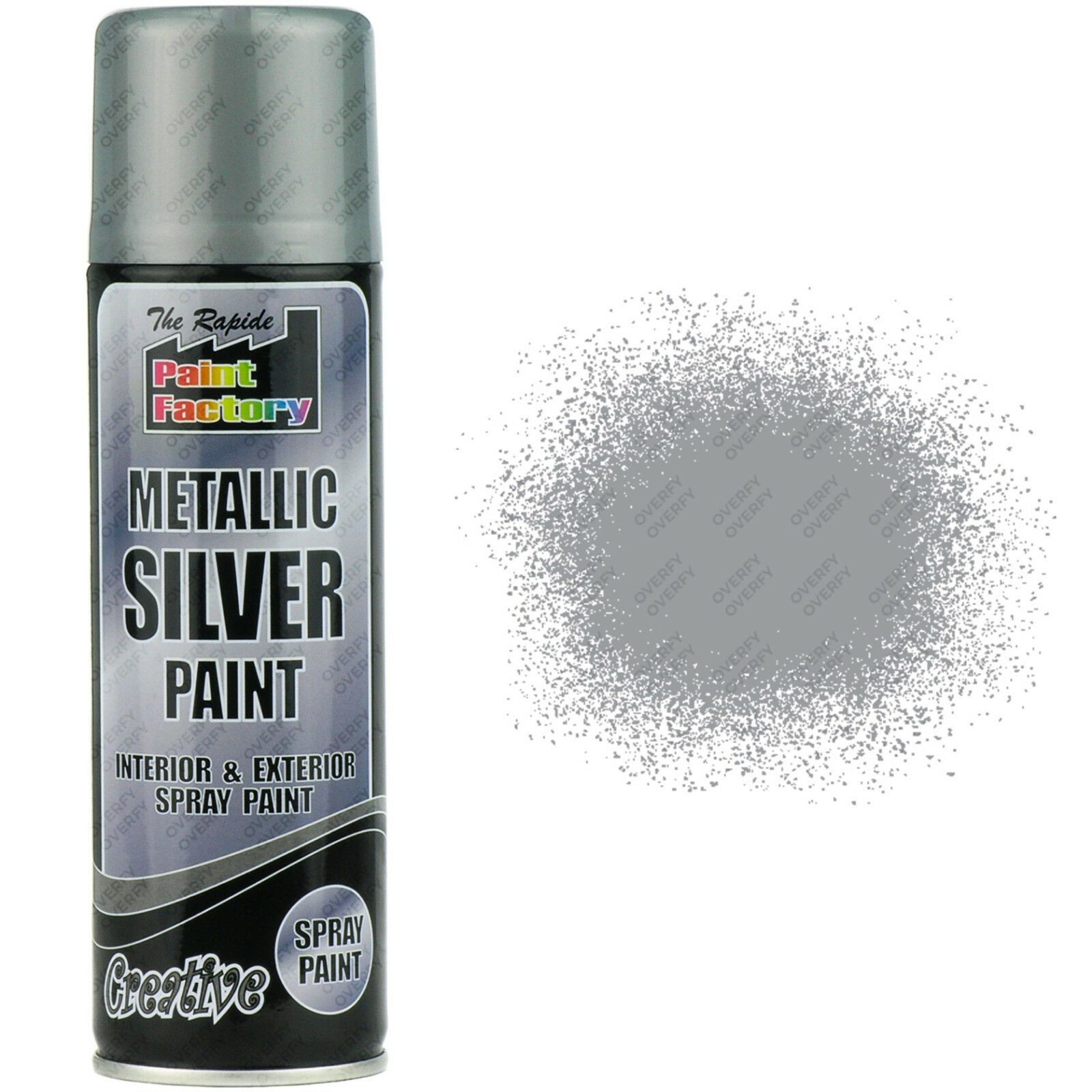 5 x metallic silver spray paint interior exterior spray. Black Bedroom Furniture Sets. Home Design Ideas
