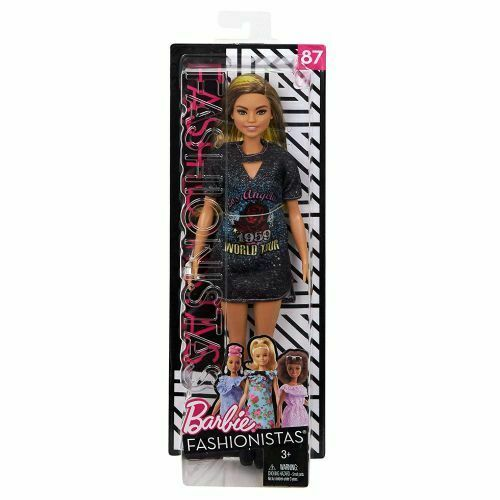 Close Out FJF47 Barbie Fashionistas D Maglia Rock e capelli Degradé