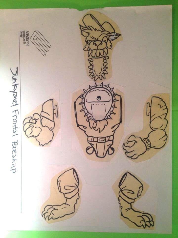 Toxic Crusaders Playmates Original Concept Art Junkyard Troma TMNT Toy Figure