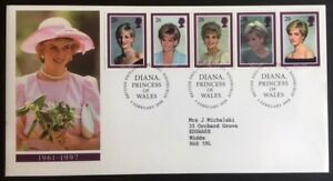 GB 1998  Diana Princess of Wales First Day Cover FDC  Bureau with insert - Pinner, United Kingdom - GB 1998  Diana Princess of Wales First Day Cover FDC  Bureau with insert - Pinner, United Kingdom