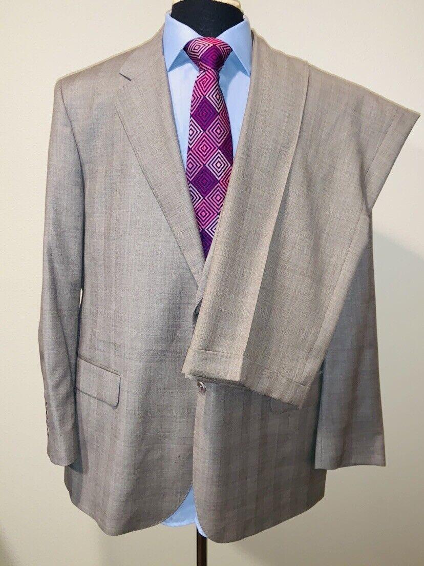 Daniel Cremieux Isaia Lgold Piana Super 160's 15.5 Micron Suit Sz 48R 36X30
