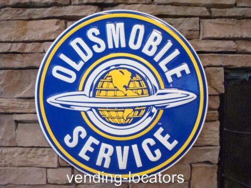 """OLDSMOBILE SERVICE 24"""" metal sign vintage style Oldsmobile logo rd-65-24"""