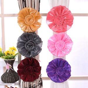 1-pair-Rose-fleur-fenetre-embrasse-boucle-pince-crochet-attache-Home-Decor