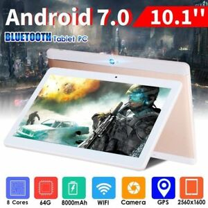 10-1-Tablet-Android-7-0-Bluetooth-PC-RAM-4G-ROM-64G-Dual-Card-GPS-Phone-Pad