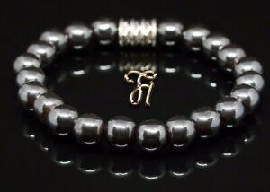 Haematit-Hematit-Armband-Bracelet-Perlenarmband-Buddha-8mm