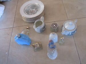 AVON-COLLECTABLES-Plates-bell-bottles-sugar-bowl-and-etcs-new-and-old