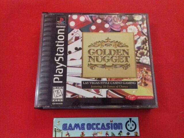 GOLDEN NUGGET LAS VEGAS CASINO GAMING SONY PS1 PLAYSTATION 1 NTSC US EN SU CAJA