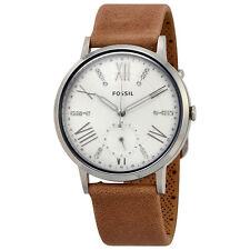 Fossil Gazer White Dial Ladies Tan Leather Watch ES4162