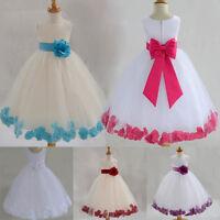 Mädchen Kinder Abendkleid Kleid Brautjungfer Prinzessin Hochzeit Festkleid FT