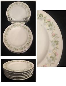 VINTAGE-Johann-Haviland-Dinnerware-FOREVER-SPRING-6-034-Bread-Plates-GERMANY-6-PC