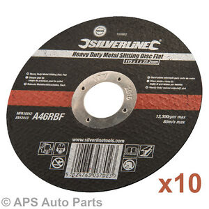 10-x-Ultra-Thin-Metal-Cutting-Discs-115mm-4-5-4-Angle-Grinder-Slitting-New